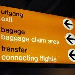 Bewegwijzering Schiphol door Benno Wissing