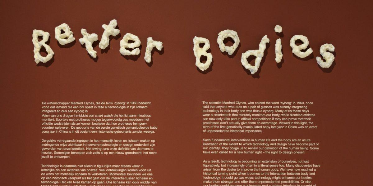 Better Bodies, letters door Bart Hess, foto door Ben Nienhuis