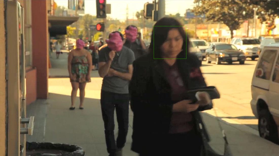 Facial Weaponization Communiqué: Fag Face, video still (2012)