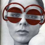 Omslag van het magazine 'Bau', 41968. Model met 'Austrian Glasses'
